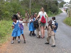Globe Aware Volunteer Vacations Jamaica Walking kids home from school Jamaican People, Kids Going To School, Cultural Diversity, Island Life, Kids House, Culture, Globe, Latin America, Social Studies
