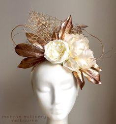 Gold & Ivory Floral Fascinator