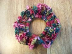 Hand Crocheted Hair Scrunchies   Rose Greens Lt by acraftylady812