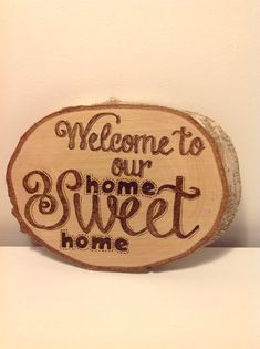 Home+Sweet+Home+Pyrography+Plaque+by+PeppersCrafts+on+Etsy,+£25.00