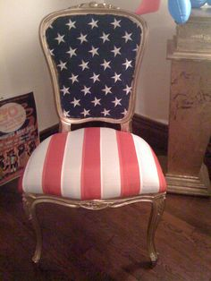 Uncle Sam Chair. Perfect for a dining room. Maybe a little too Patriotic?? Is there such a thing?