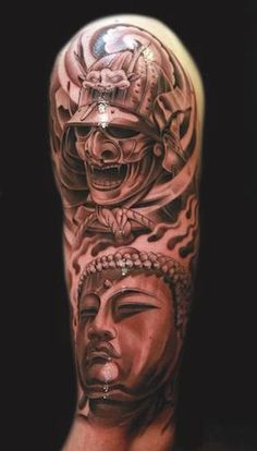 Get to witness the most amazing samurai tattoos design 2019 here. We have the most splendid art styles that will tell you all the samurai tattoo meaning as well as the samurai tattoo back,arm, and even your leg. Juncha Tattoo, Bad Tattoos, Great Tattoos, Forearm Tattoos, Future Tattoos, Body Art Tattoos, Sleeve Tattoos, Tatoos, Buddha Tattoos