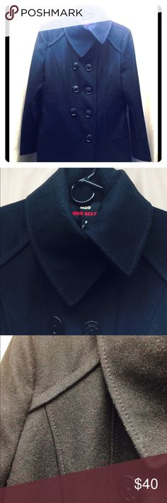 Miss Sixty Wool Pea Coat Gently Used M60 Wool coat. Shell: 60% Wool, 40% Viscose. Lining: 100% Polyester Miss Sixty Jackets & Coats Pea Coats