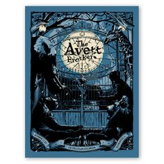 Avett Brothers art poster - night