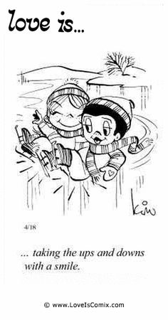 "SUL MATRIMONIO love is"". taking the ups and downs with a smile""love is"". taking the ups and downs with a smile"" Love Is Cartoon, Love Is Comic, What Is Love, Love You, My Love, Mickey Bad, Comics Love, Love My Husband, Awesome Husband"