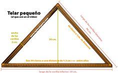 Telar triángulo - Tejiendo Perú... Loom Weaving, Triangle, Tapestry, Tableware, Crafts, Maya, Google, Embroidery, Loom Knitting