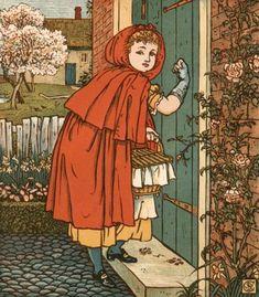Walter Crane (1845 - 1915) artista inglés, realizó pinturas, ilustraciones, mosaicos, objetos decorativos. Participó del movimiento Arts and Crafts. Little Red Riding Hood.