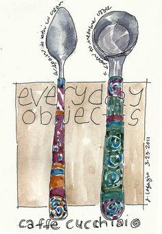 """coffee spoons by Jane La Fazio, """"everyday objects"""""""