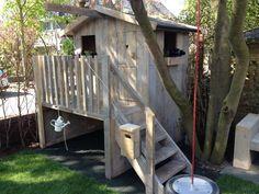 Steigerhouten speelhuisje Eva
