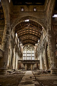 Abandoned City Methodist Church in Gary, Indiana