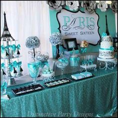 Idea for Sweet 16 Birthday Party Activities . 20 Of the Best Ideas for Idea for Sweet 16 Birthday Party Activities . Diy Sweet 16 Party themes A Little Craft In Your Day Sixteenth Birthday, 16th Birthday, Spa Birthday, Birthday Table, Blue Birthday, Happy Birthday, Birthday Wishes, Paris Birthday Parties, Birthday Party Themes