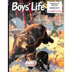 Cover Print of Boys Life Magazine, August 1955   $6.20