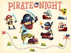 Full Pirate infographic, ho ho! http://www.sounasdesign.com/portfolio/pirate-night-disney-pin/