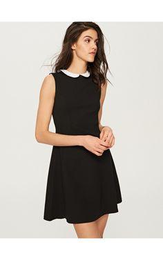 Sukienka z białym kołnierzem, Sukienki, kombinezony, czarny, RESERVED
