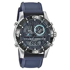 Dial Color: Blue, Case Shape: Round Band Color: Blue, Band Material: Silicone ; Case Thickness (mm): 17.80 mm ; Case Width(3H-9H) (mm): 47.30 mm ; Case Length(6H-12H) (mm): 55.00 mm ; Glass Material: Mineral Glass Watch Movement Type: Quartz, Watch Display Type: Analog Teen Watches, Casual Watches, Watches For Men, Wrist Watches, Men's Watches, Amazing Watches, Cool Watches, Digital Wrist Watch, Black Leather Belt
