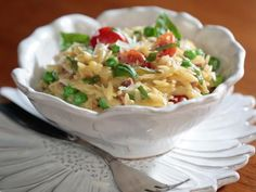 Get Creamy Orzo with Prosciutto and Peas Recipe from Food Network