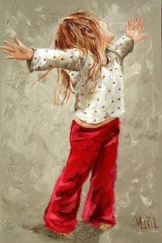 Artist: Maria Oosthuizen M09150 Dancing Girl 800 x 1200