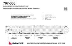 QANTAS AIRLINES BOEING 767-300 AIRCRAFT SEATING CHART