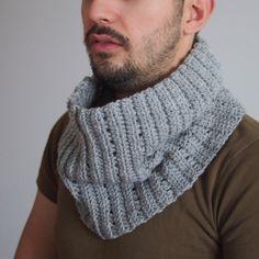 PDF crochet PATTERN man cowl men neckwarmer loop by Accessorise