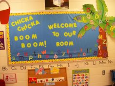Christy's Classroom Experiences: Back to School Bulletin Boards, Chicka Chicka Boom Boom, Ocean Theme Welcome Bulletin Boards, Kindergarten Bulletin Boards, Summer Bulletin Boards, Christmas Bulletin Boards, Preschool Classroom Decor, Birthday Bulletin Boards, Reading Bulletin Boards, Back To School Bulletin Boards, Preschool Bulletin Boards