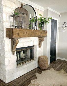 Fireplace Facing, Bedroom Fireplace, Fireplace Mantle, Living Room With Fireplace, Fireplace Design, Living Room Decor, Mantle Deco, Fireplace Stone, Fireplace Ideas