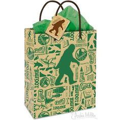 Accoutrements Bigfoot Sasquatch All Occasion Gift Wrap Bag: Perfect for a giant pair of socks! A hilarious way to package any gift, this present bag is made from heavy duty paper and features thick string carrying handles. Crazy Cat Lady, Crazy Cats, Gag Gifts, Funny Gifts, Bigfoot Party, Harry And The Hendersons, Finding Bigfoot, Horse Mask, Bigfoot Sasquatch