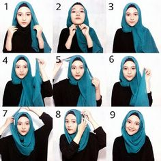 The rectangular hijab is perfect for wear at formal and non formal events. Because it can be used for various models of hijab creations, thi. Hijab Casual, Hijab Simple, Stylish Hijab, Hijab Chic, Modern Hijab, Casual Dresses, Square Hijab Tutorial, Pashmina Hijab Tutorial, Hijab Style Tutorial