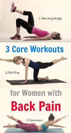 These are best #core strengthening exercises for women who are suffering from back pain. #LumbalgiaBackPain