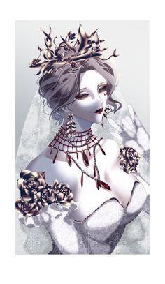 Bloody Queen - Identity V - Image - Zerochan Anime Image Board Fantasy Character Design, Character Creation, Character Concept, Character Art, Anime Girl Hot, Anime Art Girl, Manga Girl, Harley Quinn Comic, Zombie Girl