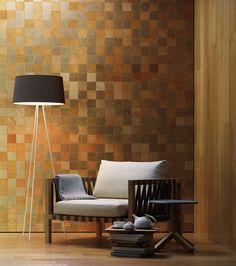 leather wall   (STUDIOART ylelliset nahkalaatat edustavat italialaista tyyliä ja muotoilua. Käsintehdyt tuotteet räätälöidään asiakkaan tarpeen mukaisesti, halutulla nahkalaadulla ja muotoilulla. Aitoa ja ylellistä nahkaa, tyylikkäästi. Dekotuotteella on laaja valikoima kolmiuloitteisia sisustusmateriaaleja. #habitare2015 #design #sisustus #messut #helsinki #messukeskus)