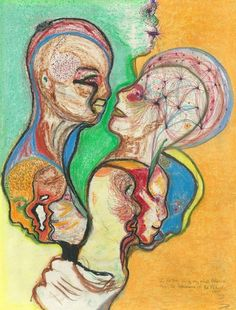 """""""Mind Essence...I portray only my mind essence...Not the appearance of the picture..."""" Tommy McHugh, ex-con, stroke victim turned compulsive artist.        2004"""