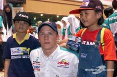 #TBT #Kimi with a couple of kids during a Sauber PR event in Malaysia in 2001.