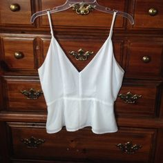 FOREVER 21 - PEPLUM BLOUSE Worn once---No rips, stains, or tears. Gorgeous peplum style blouse, minimum sheer fabric, made for someone with larger than 34B breast size. Pretty to wear with black pants, jeans, or a skirt! No trades  Forever 21 Tops Blouses