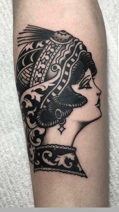 Gypsy lady by Aaron Hingston at Hens Teeth Tattoo Co. (Dromana AUS).