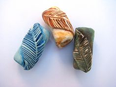 Feather Beads by HONEY BIJOU   Polymer Clay Planet