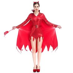 Adult Mens Devil Fancy Dress Kit Halloween Horror Fancy Dress Costume Accessory