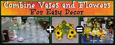 Brighten up any room with flowers and vases! CSU Surplus Property has both! Flowers- 50¢ Vases- $3 or less