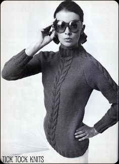 No85 PDF Vintage Knitting Pattern For Women by TickTockKnits