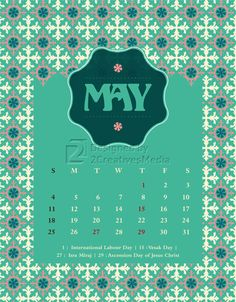 Our May 2014 calendar.