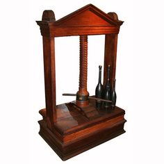 Antique Book Press by Unknown I want! (Actually a linen press, commonly mistaken for a book press ~ SR Gatke) Bookbinding Tools, Book Press, Medieval Books, Cool Books, Wood Screws, Book Binding, Book Making, Antique Books, Book Nerd