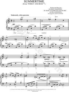 Print and download #sheetmusic for #Summertime from #PorgyandBess. by #Gershwin arranged for #Easy #Piano, and #LargePrint in C Major (transposable). #sponsored