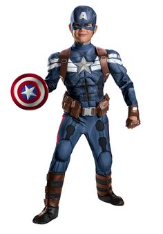 Boys Stealth Captain America Movie 2 Prestige Costume