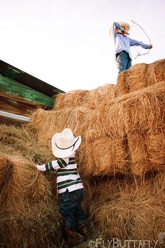 Who needs video games when you have an imagination !!   The memories, hated baling time, but loved a full hayloft.