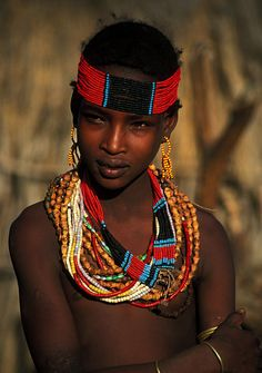 African woman. gorgeous features. stunning colors