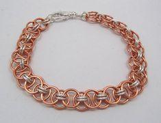 Bright Copper Helm Weave Bracelet