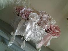 Petite jardinière et roses en tissu home made