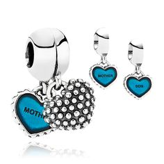 Moments Charm Mother & Son in Blue from Pandora #design #fashion #jewelry #jewellery #mum #motherandson #royaldesign #charms