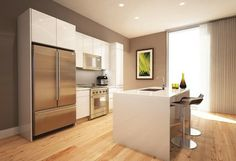 White lacquer cabinets - modern - kitchen cabinets - new york - Modern kitchen cabinets by Aster Cucine