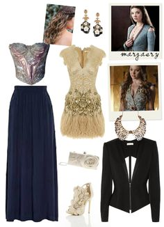 Fashion inspired by Margaery Tyrell from Game of Thrones. Seven noble families fight for control of the mythical land of Westeros. Margaery is the only daughter of Lady Alerie Tyrell and Lord Mace Tyrell, the High Marshal of the Reach. The Reach is...