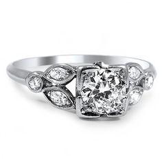 Platinum The Adara Ring, top view